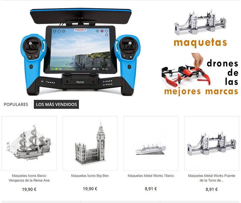 Tienda de drones, juguetes electrónicos y maquetas